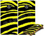 Cornhole Game Board Vinyl Skin Wrap Kit - Premium Laminated - Zebra Yellow fits 24x48 game boards (GAMEBOARDS NOT INCLUDED)