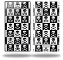 Skull Checkerboard - Decal Style Skin (fits Nokia Lumia 928)