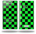 Checkers Green - Decal Style Skin (fits Nokia Lumia 928)