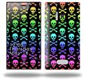 Skull and Crossbones Rainbow - Decal Style Skin (fits Nokia Lumia 928)
