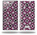 Splatter Girly Skull Pink - Decal Style Skin (fits Nokia Lumia 928)