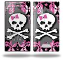 Pink Bow Skull - Decal Style Skin (fits Nokia Lumia 928)