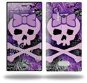 Purple Girly Skull - Decal Style Skin (fits Nokia Lumia 928)