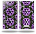 Floral Pattern Purple - Decal Style Skin (fits Nokia Lumia 928)