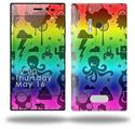 Cute Rainbow Monsters - Decal Style Skin (fits Nokia Lumia 928)