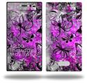 Butterfly Graffiti - Decal Style Skin (fits Nokia Lumia 928)