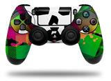 Vinyl Skin Wrap for Sony PS4 Dualshock Controller Rainbow Plaid Skull (CONTROLLER NOT INCLUDED)