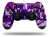 WraptorSkinz Skin compatible with Sony PS4 Dualshock Controller PlayStation 4 Original Slim and Pro Purple Checker Graffiti (CONTROLLER NOT INCLUDED)