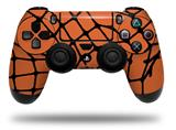 Vinyl Skin Wrap for Sony PS4 Dualshock Controller Ripped Fishnets Orange (CONTROLLER NOT INCLUDED)