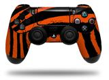 Vinyl Skin Wrap for Sony PS4 Dualshock Controller Zebra Orange (CONTROLLER NOT INCLUDED)