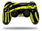 WraptorSkinz Skin compatible with Sony PS4 Dualshock Controller PlayStation 4 Original Slim and Pro Zebra Yellow (CONTROLLER NOT INCLUDED)