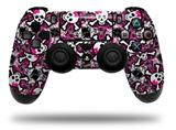WraptorSkinz Skin compatible with Sony PS4 Dualshock Controller PlayStation 4 Original Slim and Pro Splatter Girly Skull Pink (CONTROLLER NOT INCLUDED)