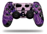 WraptorSkinz Skin compatible with Sony PS4 Dualshock Controller PlayStation 4 Original Slim and Pro Purple Girly Skull (CONTROLLER NOT INCLUDED)