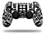 Vinyl Skin Wrap for Sony PS4 Dualshock Controller Skull And Crossbones Pattern Bw (CONTROLLER NOT INCLUDED)