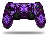 Vinyl Skin Wrap for Sony PS4 Dualshock Controller Abstract Floral Purple (CONTROLLER NOT INCLUDED)