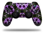 Vinyl Skin Wrap for Sony PS4 Dualshock Controller Floral Pattern Purple (CONTROLLER NOT INCLUDED)