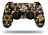 WraptorSkinz Skin compatible with Sony PS4 Dualshock Controller PlayStation 4 Original Slim and Pro Leave Pattern 1 Brown (CONTROLLER NOT INCLUDED)