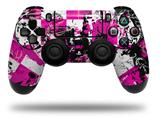 WraptorSkinz Skin compatible with Sony PS4 Dualshock Controller PlayStation 4 Original Slim and Pro Pink Graffiti (CONTROLLER NOT INCLUDED)