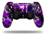 WraptorSkinz Skin compatible with Sony PS4 Dualshock Controller PlayStation 4 Original Slim and Pro Purple Graffiti (CONTROLLER NOT INCLUDED)