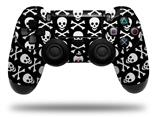 Vinyl Skin Wrap for Sony PS4 Dualshock Controller Skull and Crossbones Pattern (CONTROLLER NOT INCLUDED)