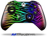 Rainbow Zebra - Decal Style Skin fits Microsoft XBOX One Wireless Controller