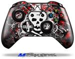 Decal Skin Wrap fits Microsoft XBOX One Wireless Controller Skull Splatter