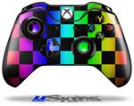 Rainbow Checkerboard - Decal Style Skin fits Microsoft XBOX One Wireless Controller