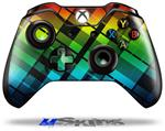 Rainbow Plaid - Decal Style Skin fits Microsoft XBOX One Wireless Controller