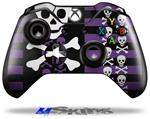Decal Skin Wrap fits Microsoft XBOX One Wireless Controller Skulls and Stripes 6