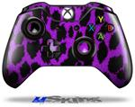 Purple Leopard - Decal Style Skin fits Microsoft XBOX One Wireless Controller