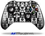 Skull Checkerboard - Decal Style Skin fits Microsoft XBOX One Wireless Controller