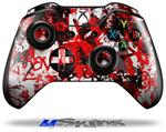 Red Graffiti - Decal Style Skin fits Microsoft XBOX One Wireless Controller