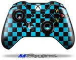 Checkers Blue - Decal Style Skin fits Microsoft XBOX One Wireless Controller