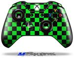 Checkers Green - Decal Style Skin fits Microsoft XBOX One Wireless Controller