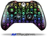 Skull and Crossbones Rainbow - Decal Style Skin fits Microsoft XBOX One Wireless Controller