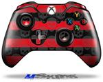 Skull Stripes Red - Decal Style Skin fits Microsoft XBOX One Wireless Controller