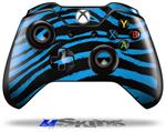 Zebra Blue - Decal Style Skin fits Microsoft XBOX One Wireless Controller