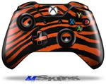 Zebra Orange - Decal Style Skin fits Microsoft XBOX One Wireless Controller