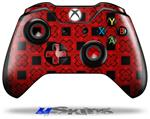 Decal Skin Wrap fits Microsoft XBOX One Wireless Controller Criss Cross Red