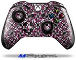 Splatter Girly Skull Pink - Decal Style Skin fits Microsoft XBOX One Wireless Controller