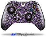 Splatter Girly Skull Purple - Decal Style Skin fits Microsoft XBOX One Wireless Controller