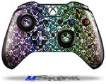 Splatter Girly Skull Rainbow - Decal Style Skin fits Microsoft XBOX One Wireless Controller