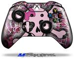 Pink Skull - Decal Style Skin fits Microsoft XBOX One Wireless Controller