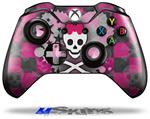 Princess Skull Heart Pink - Decal Style Skin fits Microsoft XBOX One Wireless Controller