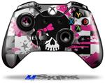 Scene Kid Girl Skull - Decal Style Skin fits Microsoft XBOX One Wireless Controller