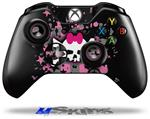 Scene Skull Splatter - Decal Style Skin fits Microsoft XBOX One Wireless Controller