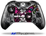 Decal Skin Wrap fits Microsoft XBOX One Wireless Controller Skull Butterfly