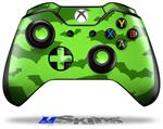 Decal Skin Wrap fits Microsoft XBOX One Wireless Controller Deathrock Bats Green