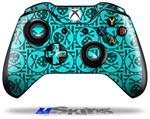 Decal Skin Wrap fits Microsoft XBOX One Wireless Controller Skull Patch Pattern Blue
