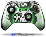 Cartoon Skull Green - Decal Style Skin fits Microsoft XBOX One Wireless Controller